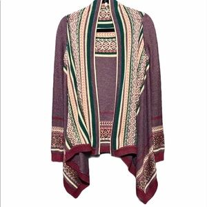 Willow and Clay Aztec Cape poncho sweater (WS3)